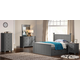 New Classic Furniture Taylor 4-Piece Panel Storage Bedroom Set in Gray