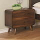 Coaster Furniture Robyn Mid-Century Modern 1 Drawer Nightstand in Dark Walnut 205132