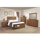 Coaster Furniture Brenner 4-Piece Storage Bedroom Set in Rustic Honey