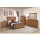 Coaster Furniture Brenner 4-Piece Panel Bedroom Set in Rustic Honey