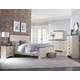 Standard Rivervale 4pc Distressed Poster Bedroom Set in White
