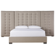Universal Furniture Soliloquy Camille Queen Upholstered with Wall Panels Bed in Cocoa 788210BW CODE:UNIV20 for 20% Off