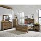 Standard Warren 4pc Panel Bedroom Set in Brown