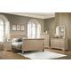 Coaster Furniture Hershel Louis Philippe 4-Piece Sleigh Bedroom Set in Metallic Champagne