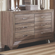 Coaster Furniture Kauffman Dresser in Washed Taupe