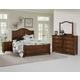 Vaughan-Bassett American Maple 4pc Shiplap Bedroom Set in Cottage Cherry