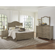 Vaughan-Bassett American Maple 4pc Shiplap Bedroom Set in Rustic Grey