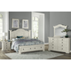Vaughan-Bassett Rustic Hills Poster with Storage Footboard Bedroom Set in Weathered White