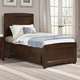 Vaughan-Bassett Transitions Twin Panel Bed with Trundle in Dark Cherry