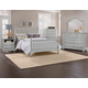 Vaughan-Bassett Cottage 4-Piece Slat Poster Bedroom Set in Gray