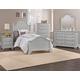 Vaughan-Bassett Cottage 4-Piece Panel Bedroom Set in Gray