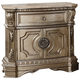 Acme Furniture Northville Nightstand with Marble Top in Antique Champagne 26934