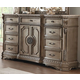 Acme Furniture Northville 9 Drawer Dresser with Marble Top in Antique Champagne 26937