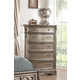 Acme Furniture Northville 5 Drawer Chest in Antique Champagne 26939