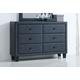 Acme Furniture Saveria 6 Drawer Dresser in Gray 25665