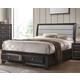 Acme Furniture Soteris King Sleigh Storage Bed in Gray 26537EK