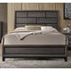 Acme Furniture Valdemar King Panel Bed in Weathered Gray 27047EK