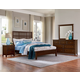 Vaughan-Bassett Artisan Choices 4-Piece Craftsman Slat Bedroom Set w/ Low Profile Footboard in Dark Cherry