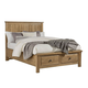 Vaughan-Bassett Artisan Choices King Panel Bed w/ Storage Footboard in Natural Oak