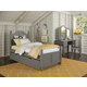Hillsdale Furniture Lake House Payton Twin Arch Bed with Trundle in Stone 2010NT PROMO