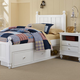 Hillsdale Furniture Lake House Kennedy Twin Panel Bed with Storage in White 1020NS PROMO