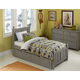 Hillsdale Furniture Lake House Kennedy Twin Panel Bed with Trundle in Stone 2020NT PROMO
