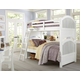 Hillsdale Furniture Lake House Adrian Twin over Twin Bunk Bed in White 1031N PROMO