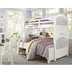 Hillsdale Furniture Lake House Adrian Twin over Full Bunk Bed in White 1035N PROMO