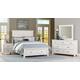 Vaughan-Bassett Maple Road 4-Piece Mansion Bedroom Set w/ Storage Footboard in White