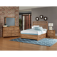 Vaughan-Bassett Sedgwick 4-Piece Slat Bedroom Set w/ Storage Drawers in Natural Maple