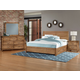 Vaughan-Bassett Sedgwick 4-Piece Panel Bedroom Set w/ Storage Drawers in Natural Maple