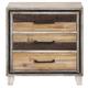 New Classic Furniture Boone 3 Drawer Nightstand in Distressed Oak B818-040