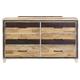 New Classic Furniture Boone 6 Drawer Dresser in Distressed Oak B818-050