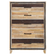New Classic Furniture Boone 5 Drawer Chest in Distressed Oak B818-070