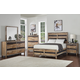 New Classic Furniture Boone 4pc Panel Bedroom Set in Distressed Oak