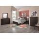 American Woodcrafters Furniture Billings Captain's Bedroom Set in Dark Walnut