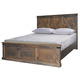 Legends Furniture Farmhouse Queen Panel Bed in Barnwood