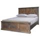 Legends Furniture Farmhouse King Panel Bed in Barnwood