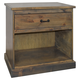 Legends Furniture Farmhouse 1 Drawer Nightstand in Barnwood FH7206.BNW