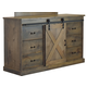 Legends Furniture Farmhouse 6 Drawer Deluxe Dresser in Barnwood FH7203.BNW