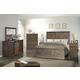Legends Furniture Farmhouse 4pc Panel Bedroom Set in Barnwood