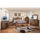 Legends Furniture Barclay 4pc Panel Bedroom Set in Rustic Acacia