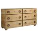 Tommy Bahama Home Los Altos Armiston 6 Drawer Double Dresser in Natural Oak 566-222