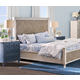 Legends Furniture Laurel Grove King Parquet Panel Bed in Low Country White