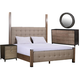 A.R.T Furniture Prossimo Alto 4pc Poster Bedroom Set in Driftwood