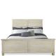 Riverside Aberdeen King Panel Bed in Weathered Worn White