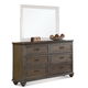 Riverside Belmeade 9 Drawer Dresser in Old World Oak 15862