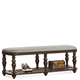 Riverside Belmeade Upholstered Bed Bench in Old World Oak 15867