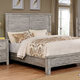 Furniture of America Canopus California King Panel Bed in Antique Gray CM7422GY-CK