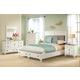 Riverside Myra 4pc Upholstered Storage Bedroom Set in Paperwhite